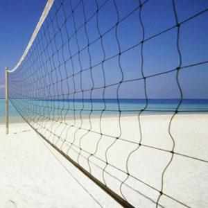 Сетка для пляжного волейбола 3 мм, трос ПЭ 6 мм