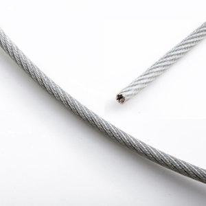 Трос стальной в оплетке, 15 метров