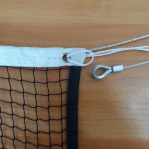 Сетка для бадминтона Ø 1,5 мм, стальной трос 3мм