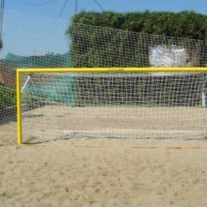Сетка для футбольных ворот 5,6х2,4х1х1 м, нить 2,6 мм, 2 шт.