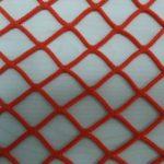 Сетка заградительная 40х40 мм, нить 3,0 мм. Цвет: синий, красный