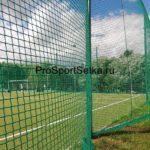 Сетка для футбольного поля 40х40 мм, нить 4 мм, зеленая